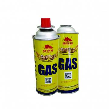 Industrial portable China msds butane gas 227g and gas butane cartridge 227g