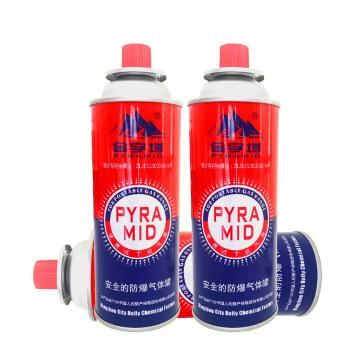 portable stove use Round Shape Portable butane gas cartridge can for portable gas stove