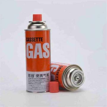Camping butane gas cartridge for portable gas stove with filled butane gas 400ml 227g for portable gas