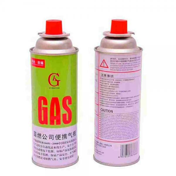 Portable gas stove for barbecue butane aerosol cans and gas cartridge