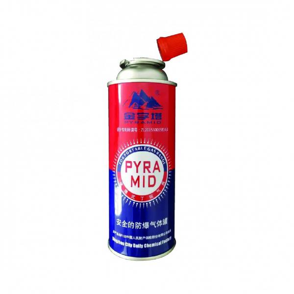 Butane Gas Cartridge Aerosol Straight Can for portable camping stoves
